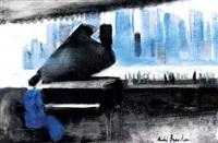 piano au river café de new york by andré brasilier
