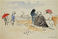 scène de plage by (jean alexis j. morin) morin-jean