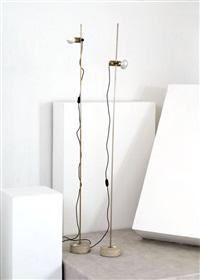 coppia di lampade da terra mod. 255 by tito agnoli