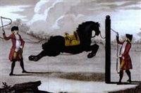 equestrain scene (from luz da liberal, e nobre arte da cavallaria) by manoel carlos de andrade