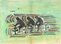 ciclisti by vittorio corona