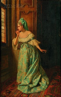 awaiting her beau by pio ricci