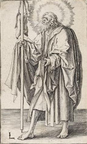 jacobus der ältere from christus paulus und die zwölf apostel by lucas van leyden