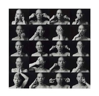 skin (20 autoportraits) (20 works) by zhang huan