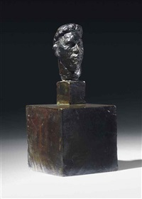 tête de rol-tanguy sur double socle by alberto giacometti