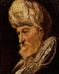 bildnis eines graubärtigen mannes mit turban by willem de poorter