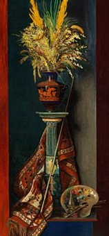 still life with a greek vase by edith dorothea almqvist