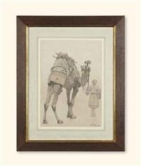 un chamelier et son dromadaire by carl haag