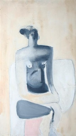 seated figure by roger cecil