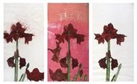 amaryllises (triptych) by erik bart andriessen