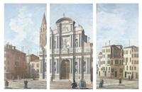 the church of santa maria del giglio, venice (3 works) by bernardo bellotto