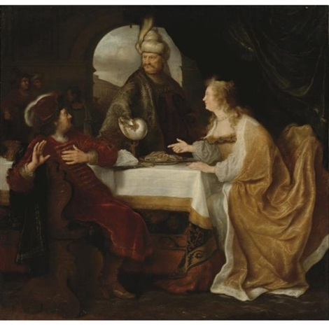 esthers banquet by salomon koninck