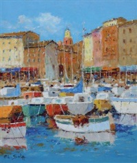 le port de saint tropez by louis sola
