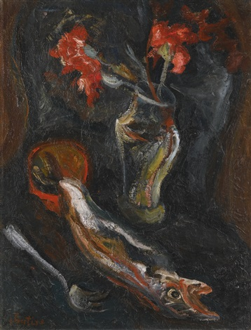 fleurs et poisson by chaïm soutine