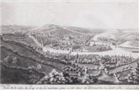 veue de la ville de liege et de ses environs prise a côté droit du monastere de saint gilles by mathieu antoine xhrouet