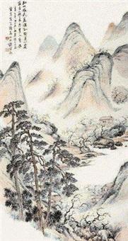 华秋岳诗意图 by chu jianqiu