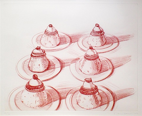 six italian desserts by wayne thiebaud