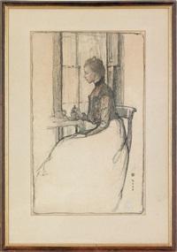 portrait of elizabeth moore hallowell by violet oakley