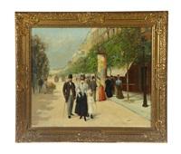 parisian street scene by jose maria jardines
