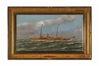 steam yacht seminole and steam yacht s.s. ashbrooke (2 works) by thomas h. willis
