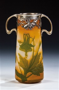 vase by verreries d'art lorrain
