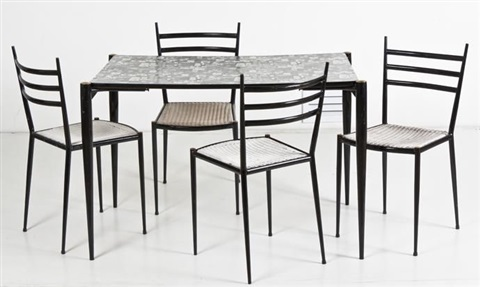 a table and chairs set of 5 by lucienne day