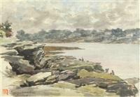 pornic, marée basse by georges quenioux