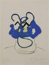 vase bleu. pl. pour apollinaire, si je mourais là-bas, paris, l. broder éd by georges braque