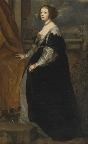 portrait of beatrice de cusance princess of cantecroix and duchess of lorraine by sir anthony van dyck