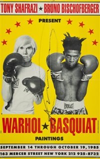 poster for warhol & basquiat paintings by jean-michel basquiat and andy warhol