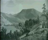 landschaft aus dem salzkammergut by friedrich wachsmann