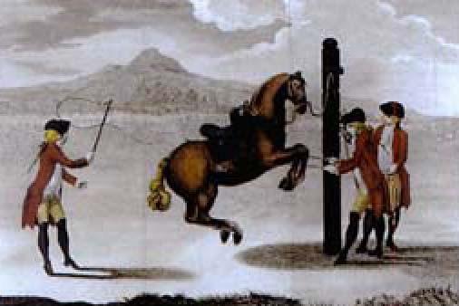 equestrian scene from luz da liberal e nobre arte da cavallaria by manoel carlos de andrade