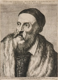 portrait of titian by agostino carracci