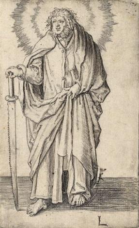 simon from christus paulus und die zwölf apostel by lucas van leyden