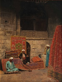 oriental bazar with carpet dealers by voitler billney