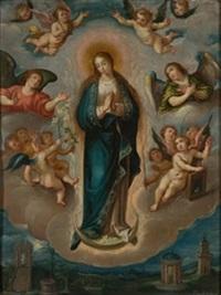 inmaculada concepción con símbolos marianos by frans francken the elder