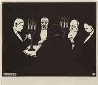 le poker by félix edouard vallotton