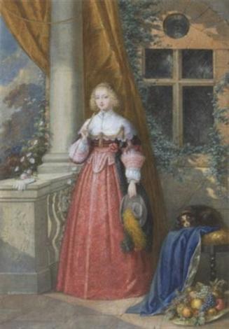 junge dame mit rietgerte auf der terrasse by emanuel stöckler
