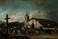 santa clara mission in 1849 by andrew putnam hill