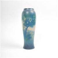 scenic vase, model #2040 by e.t. hurley