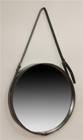 circular mirror by jacques adnet