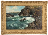 the rugged cliffs of cornwall by reginald smith