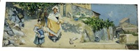 scene di vita sarda by romolo leone