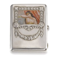a pictorial cigarette case by vasili chuvilaiev