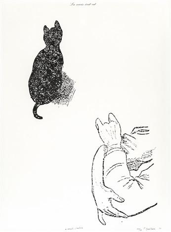 la souris écrit rat by marcel broodthaers