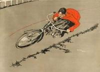 le motocycliste (poster) by pierre fohlé