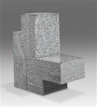 two-part chair (in 2 parts) by scott burton