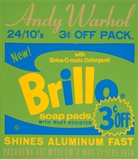exhibition poster for warhol: pasadena art museum-brillo by andy warhol