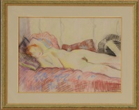 reclining nude by ion valentin anestin