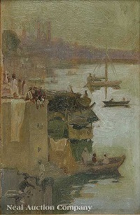 scene in benares, india by john roderick dempster
